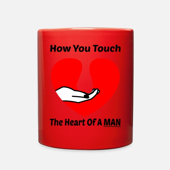 Gift Idea Mugs & Drinkware - Hilarious Man Shirt - Full Color Mug red