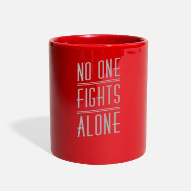 Brain No One Fights Alone -BRAINCANCERCANCER AWARENESS T - Full Color Mug