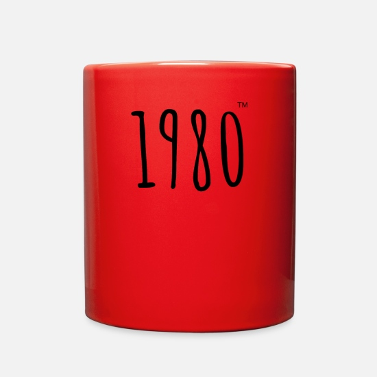 Year Of Birth Mugs & Drinkware - 1980TM BIRTH YEAR - Full Color Mug red