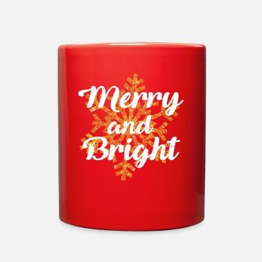 Merry Merry and Bright - Present - Merry Christmas - Full Color Mug