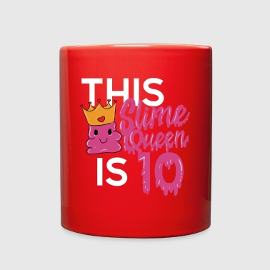 Pink Slime Queen ten years old 10 birthday - Full Color Mug
