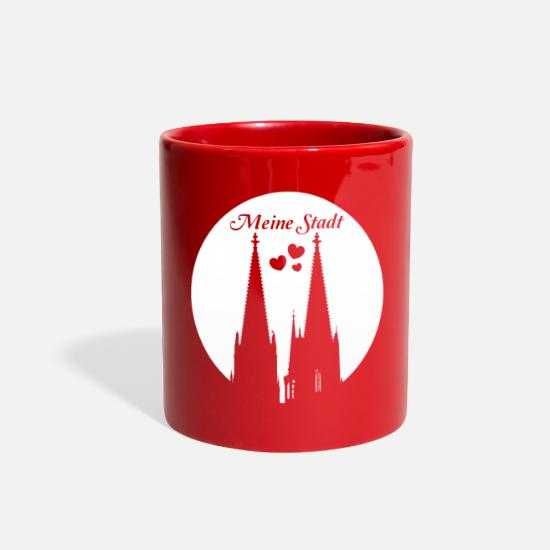 Church Mugs & Drinkware - Cologne Church - Full Color Mug red