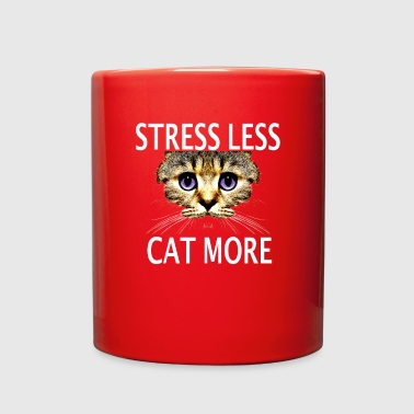 Strees Less Cat More Pet Lover Cat Lover Shirt - Full Color Mug