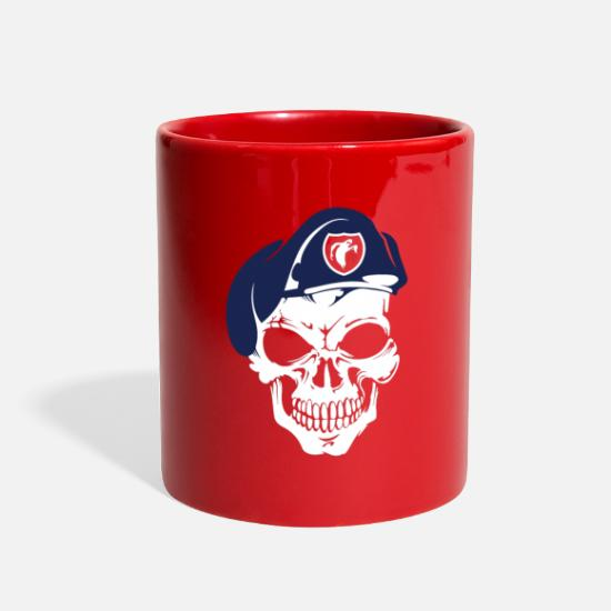 WWII Vintage Ghost Army Skull 23rd World War 2 Full Color Mug
