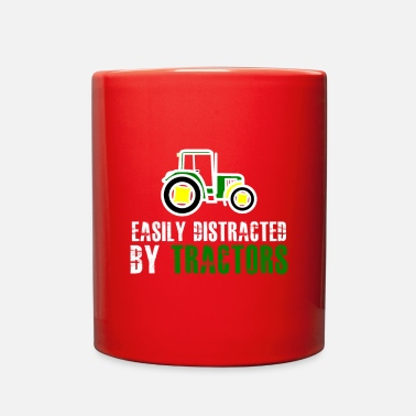 Distracted Tractors Easily Distracted By Tractors t-shirt - Full Color Mug
