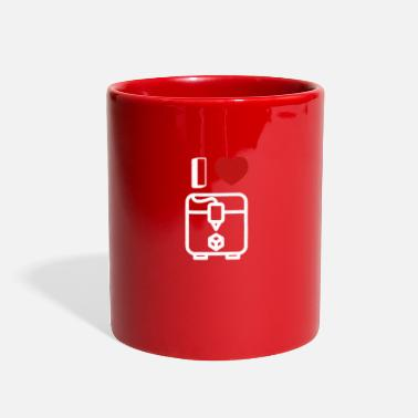 Addicted Trendy I Heart 3D Printer Gift - Full Color Mug