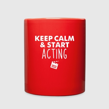 Television Keep Calm Start Acting Performer Gift - Full Color Mug