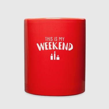 Wicked Trendy This is My Weekend Candle-Making Shirt Gift - Full Color Mug