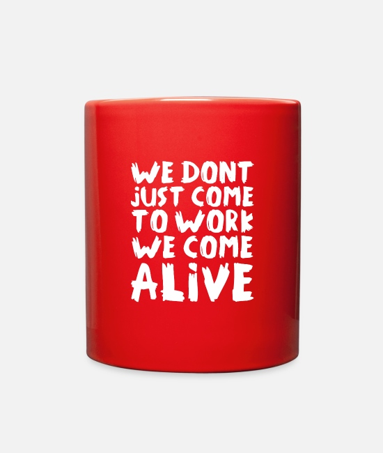 Live Your Life Mugs & Cups - Alive - Full Color Mug red