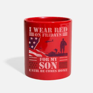 Iraq Red Friday Shirts For Veteran Military Son - Full Color Mug