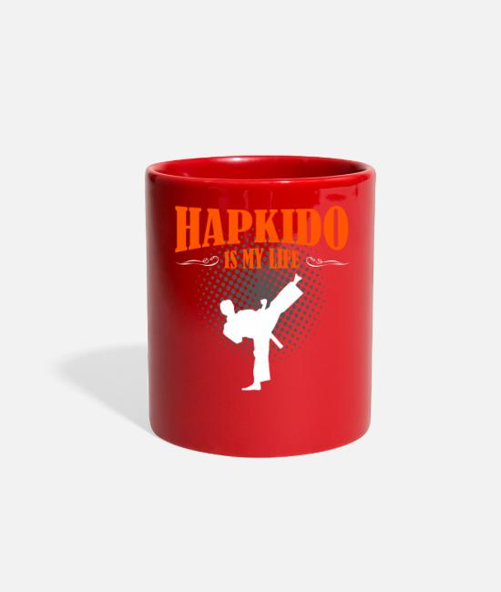 Life Force Mugs & Cups - Hapkido Is My Life - Full Color Mug red