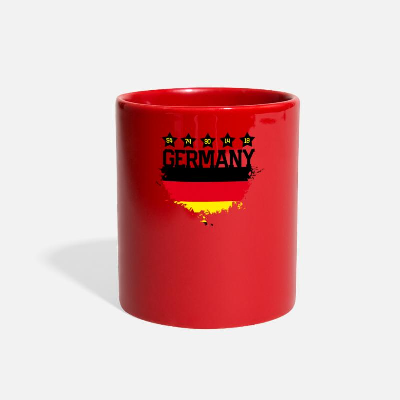 Flag Of Germany Mugs & Drinkware - Germany - Full Color Mug red