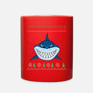 Ugly Ugly Shark Ugly Christmas Sweater - Full Color Mug