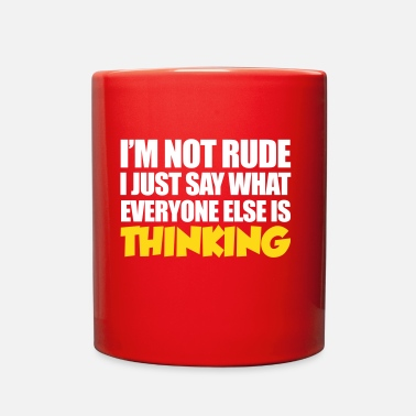 Rude Rude - Full Color Mug