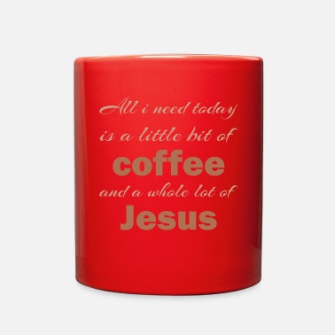 Little Christian,Bible Quote,less coffee more jesus a day - Full Color Mug