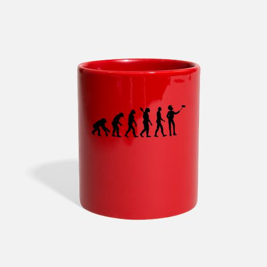 Gorilla Mugs & Drinkware - evolutionary theory with selfmade photo - Full Color Mug red