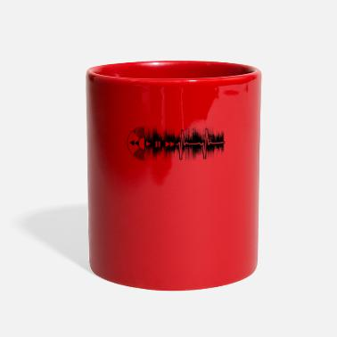 Dubstep Vinyl Junkie Vinyl Heartbeat ECG Gift - Full Color Mug