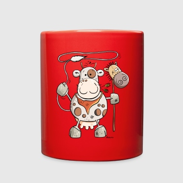Funny Cowboy Cow - Full Color Mug