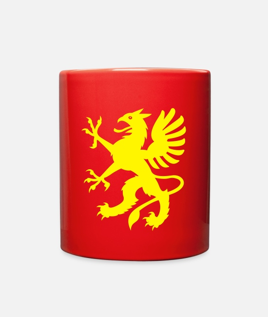 Fantasy Mugs & Cups - Griffin - Full Color Mug red