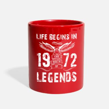 December Life Begin In 1972 Legends - Full Color Mug