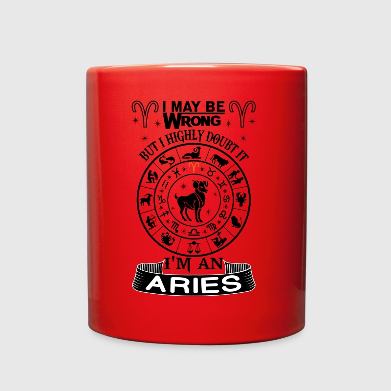 I AM AN ARIES - Full Color Mug