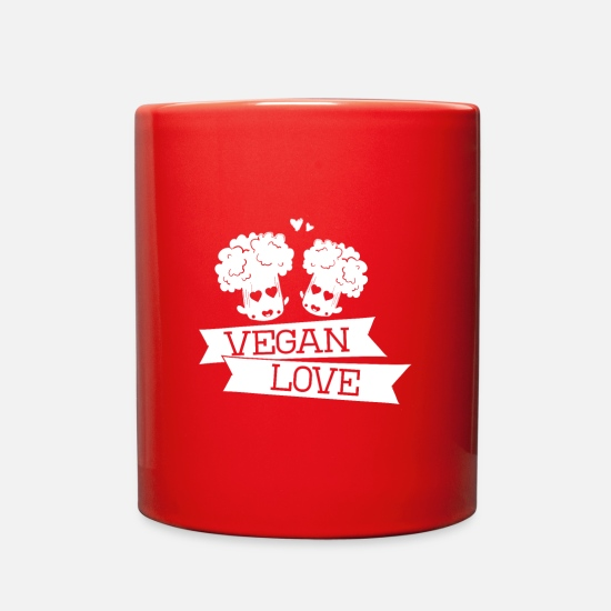 Gift Idea Mugs & Drinkware - Vegan Vegan Vegan - Full Color Mug red