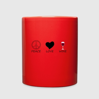 Peace peace love - Full Color Mug