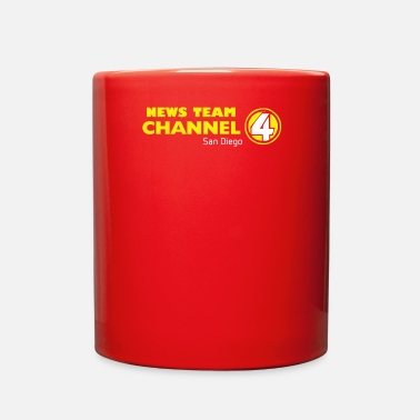 News Channel Anchorman Inspired Ron Burgundy Channel 4 News Tea - Full Color Mug