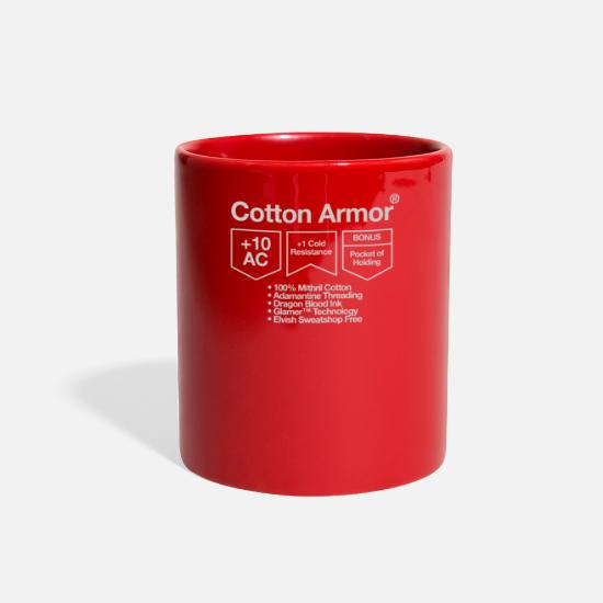 Game Mugs & Drinkware - Cotton Armor - Full Color Mug red
