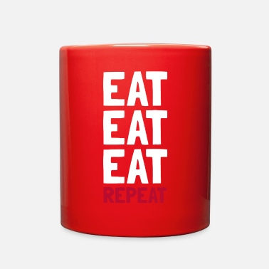 Eating Eat Eat Eat Repeat - Full Color Mug
