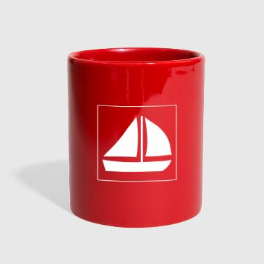Sail Boat with two sails - Full Color Mug