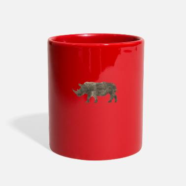 Rhino Silhouette Jungle Series Rhino - Full Color Mug