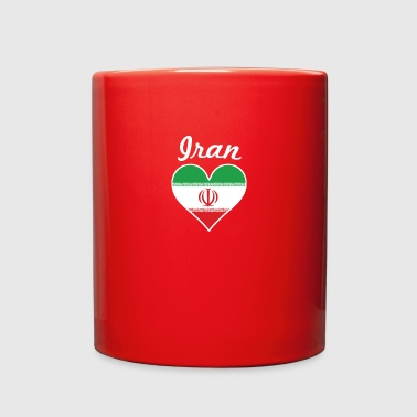 Iran Flag Heart - Full Color Mug
