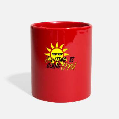 Sun Rays Something is going sun sunlight holiday beach rays - Full Color Mug