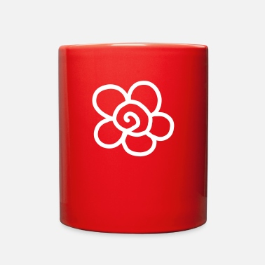 Naive 09 2018 Blumen Design Weiss - Full Color Mug