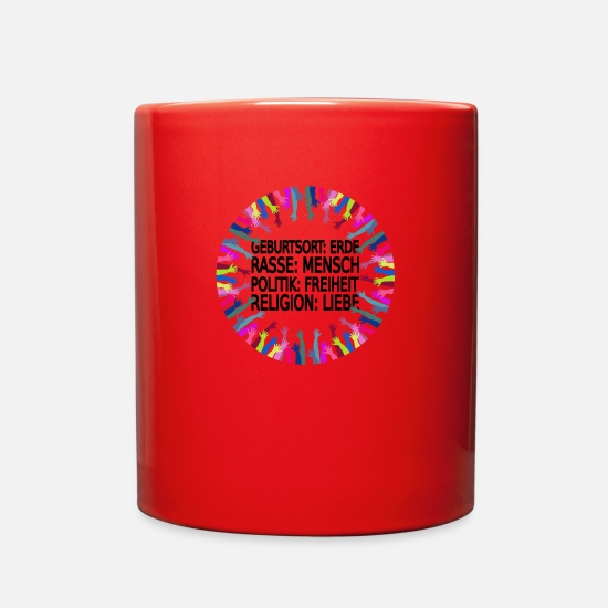 Stop Mugs & Drinkware - Stop racism - Full Color Mug red