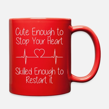 Cute Enough To Stop Your Heart - Full Color Mug