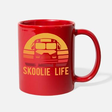 Skoolie Retro Skoolie Life Converted School Bus Home Lifes - Full Color Mug