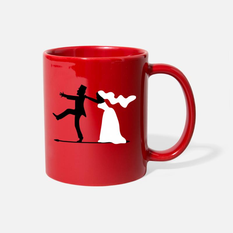 Game Mugs & Drinkware - game over bride and groom wedding stag night - Full Color Mug red