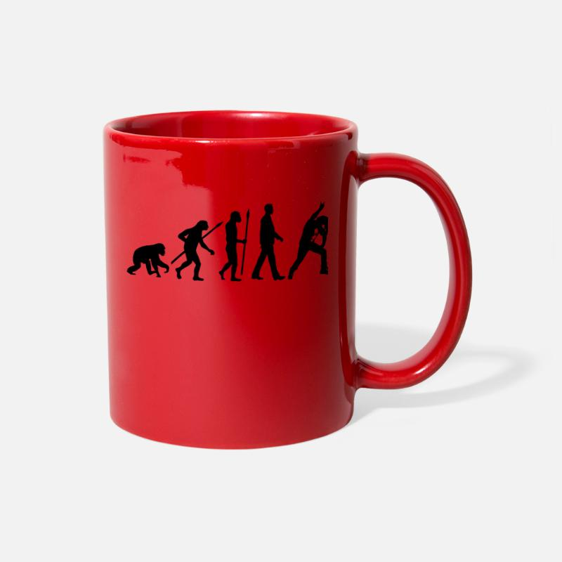 Heavy Mugs & Drinkware - evolution_metal_fan_headbanger_112015_b_ - Full Color Mug red