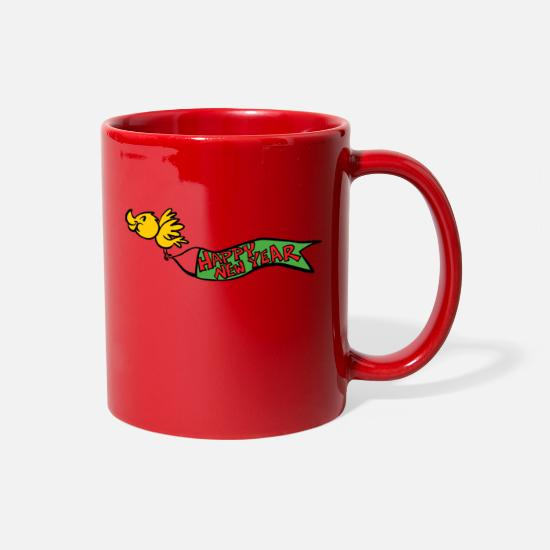 Happy New Year Mugs & Drinkware - Happy New Year 2018 - Full Color Mug red