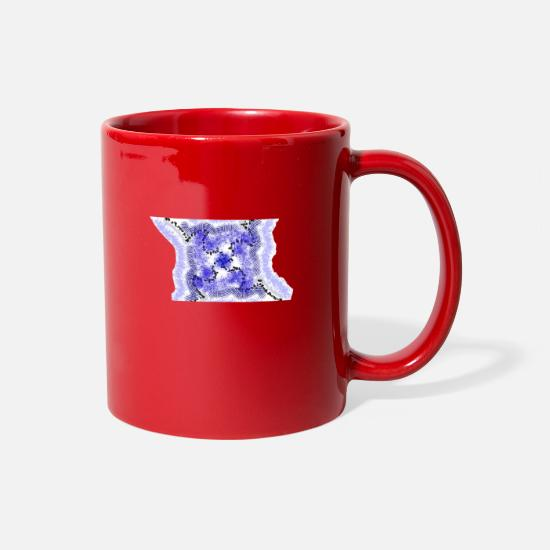 Blue White Mugs & Drinkware - Blue coral - Full Color Mug red