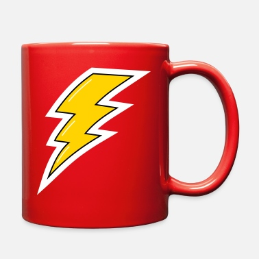 Lightning Bolt Yellow Lightning, lightning bolt - Full Color Mug