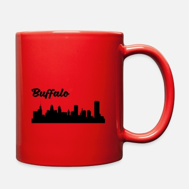 Buffalo Ny Buffalo NY Skyline - Full Color Mug