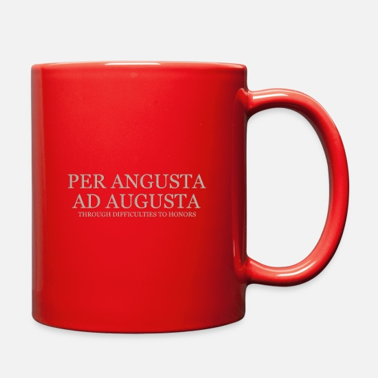 Motivation Mugs & Drinkware - Through Difficulties To Honors - Light - Full Color Mug red