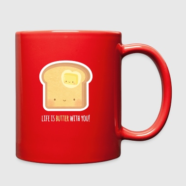Cute Butter and Toast Pun - Full Color Mug