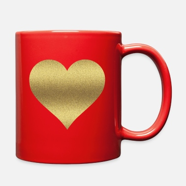 Gold GOLD GLITTER HEART - Full Color Mug