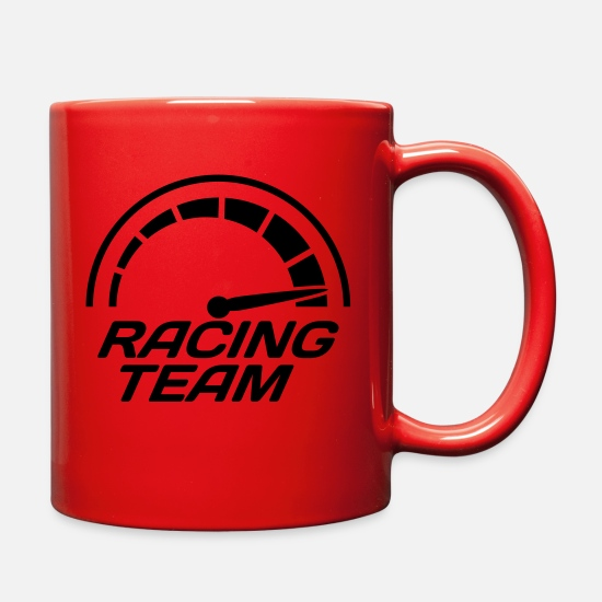 Racing Mugs & Drinkware - Racing team speedometer quick lawn - Full Color Mug red