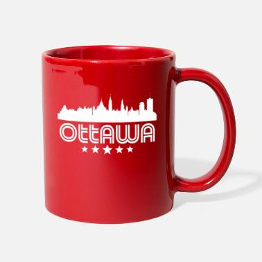 Ontario Retro Ottawa Skyline - Full Color Mug
