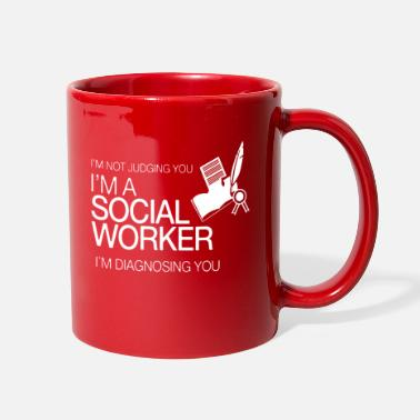 Social Social Worker Funny Mug - Full Color Mug